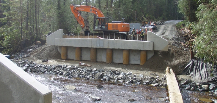 IWC Excavation - Full-Scale Civil and Infrastructure Services include road building and bridge construction