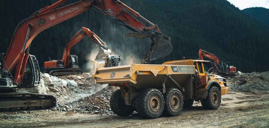 IWC Excavation - Full-Scale Mining Services include earthworks crushing screening material handling